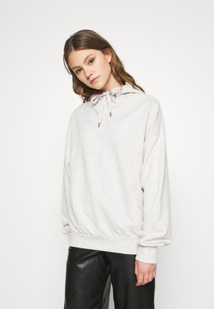 LONG OVERSIZED HOODIE - Sweat à capuche - beige