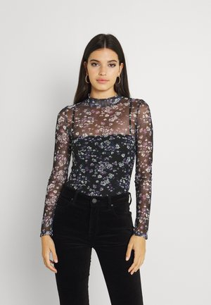 PRINTED TEE - Long sleeved top - black