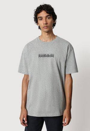 S BOX - T-shirt print - medium grey melange