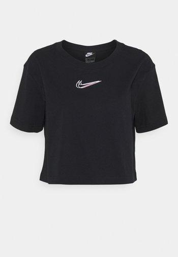 CROP TEE - Camiseta estampada - black