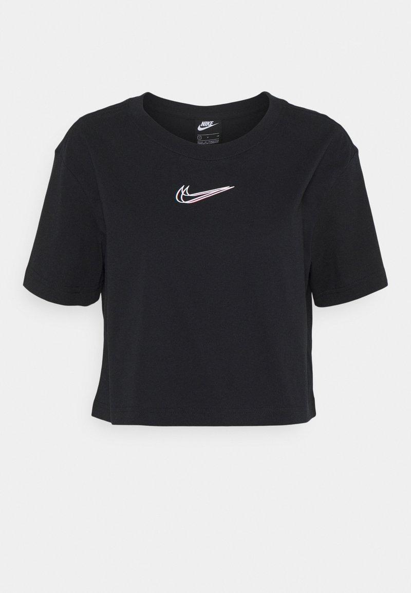 Nike Sportswear - CROP TEE - T-shirt imprimé - black