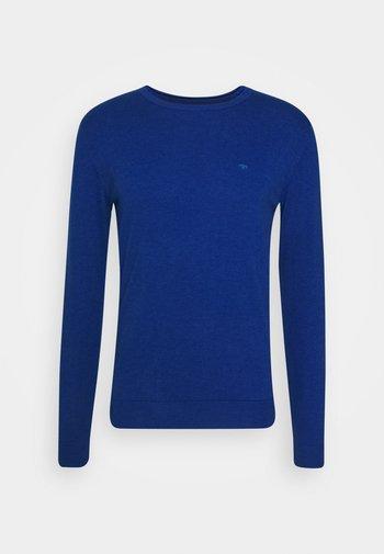 BASIC CREW NECK - Jumper - bright blue melange