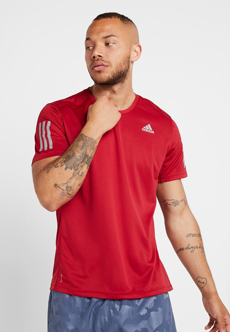 adidas Performance - OWN THE RUN TEE - Print T-shirt - red