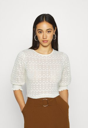 SHORT SLEEVE TOP - Jumper - off white
