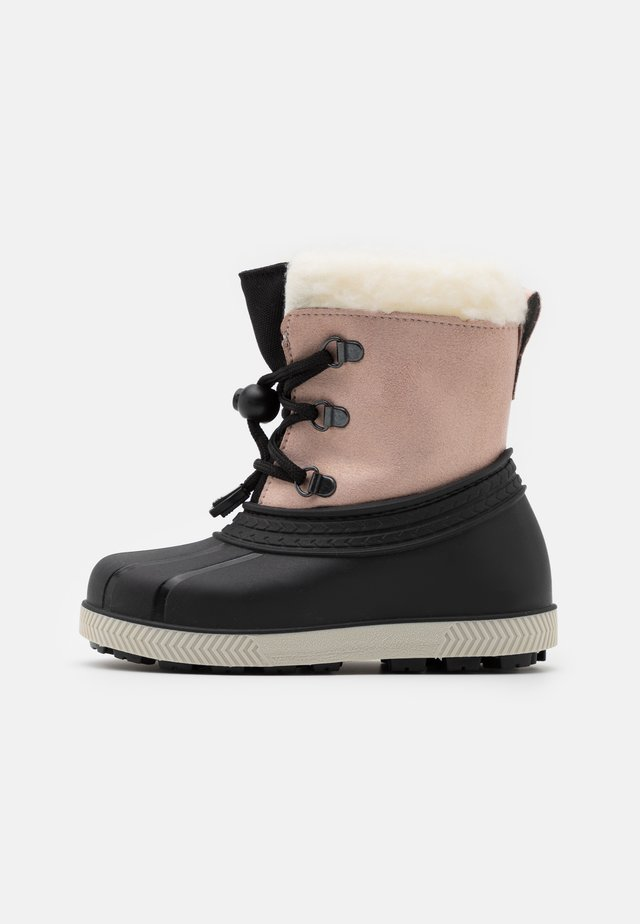 Winter boots - beige/black