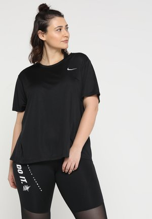 DRY MILER PLUS - Print T-shirt - black/reflective silv