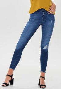 ONLY - MID ANKLE RAW - Jeans Skinny Fit - dark blue - 0