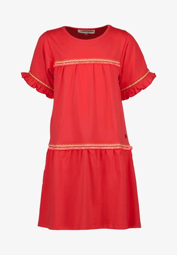 PERSICA - Jersey dress - dark coral