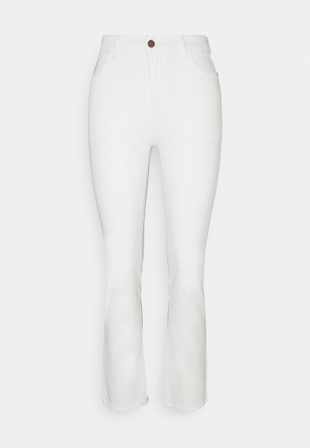 MARA ANKLE HIGH RISE  - Straight leg jeans - ivory