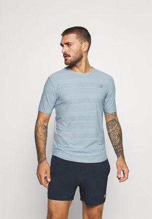 Q SPEED SHORT SLEEVE - T-shirts print - light slate