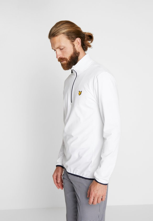 TECH ZIP MIDLAYER - Felpa in pile - white