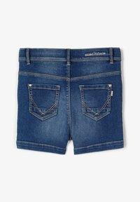 Name it - HIGH WAIST - Denim shorts - medium blue denim - 1