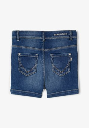 HIGH WAIST - Džínové kraťasy - medium blue denim