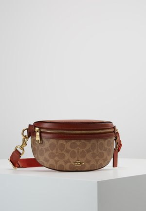COATED SIGNATURE FANNY PACK - Sac banane - tan rust