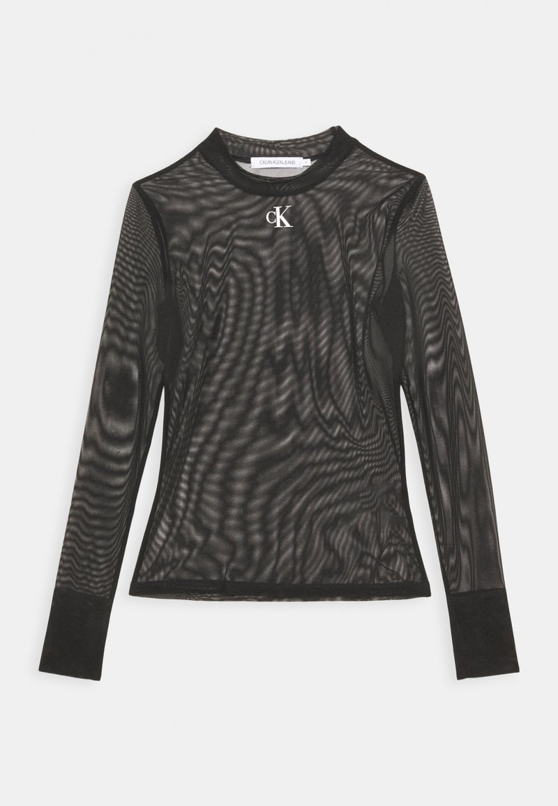 Calvin Klein Jeans - HIGH NECK - Long sleeved top - black