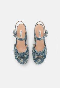 Guess - RION - Platform sandals - denim - 5