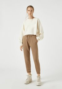 PULL&BEAR - Tracksuit bottoms - brown - 3