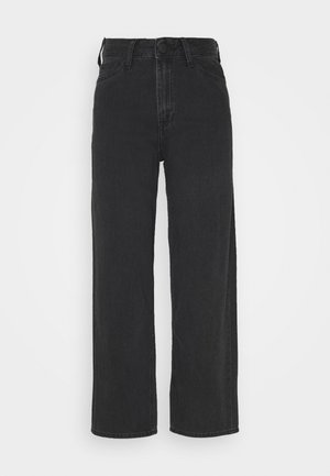 WIDE LEG - Relaxed fit jeans - black duns