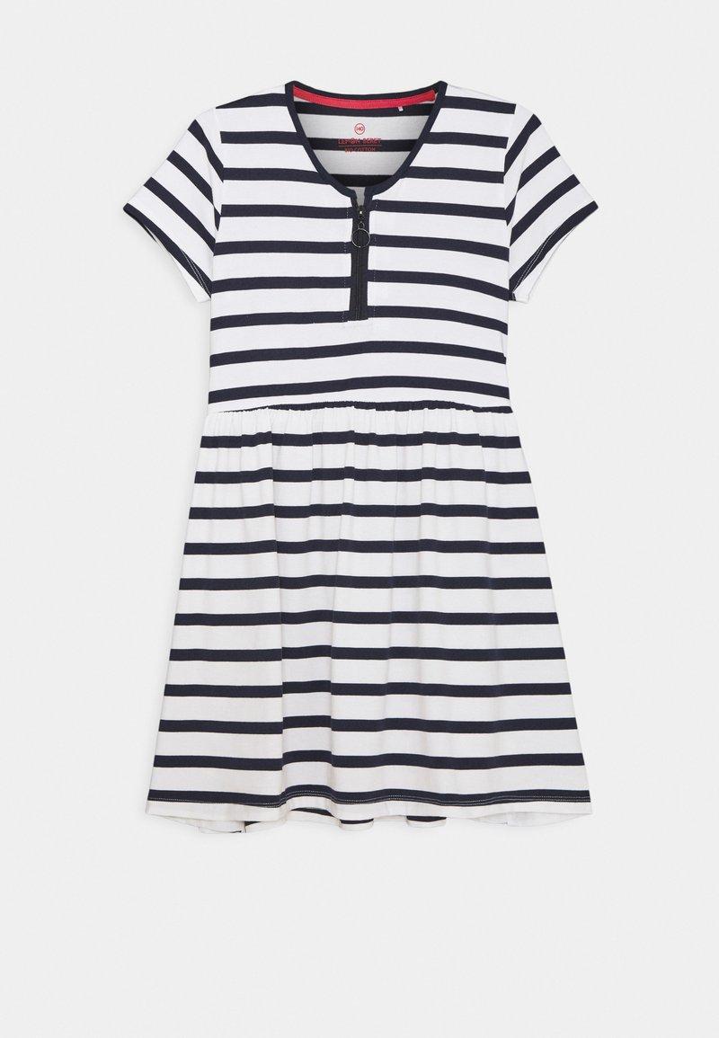 Lemon Beret - TEEN GIRLS DRESS - Jersey dress - optical white