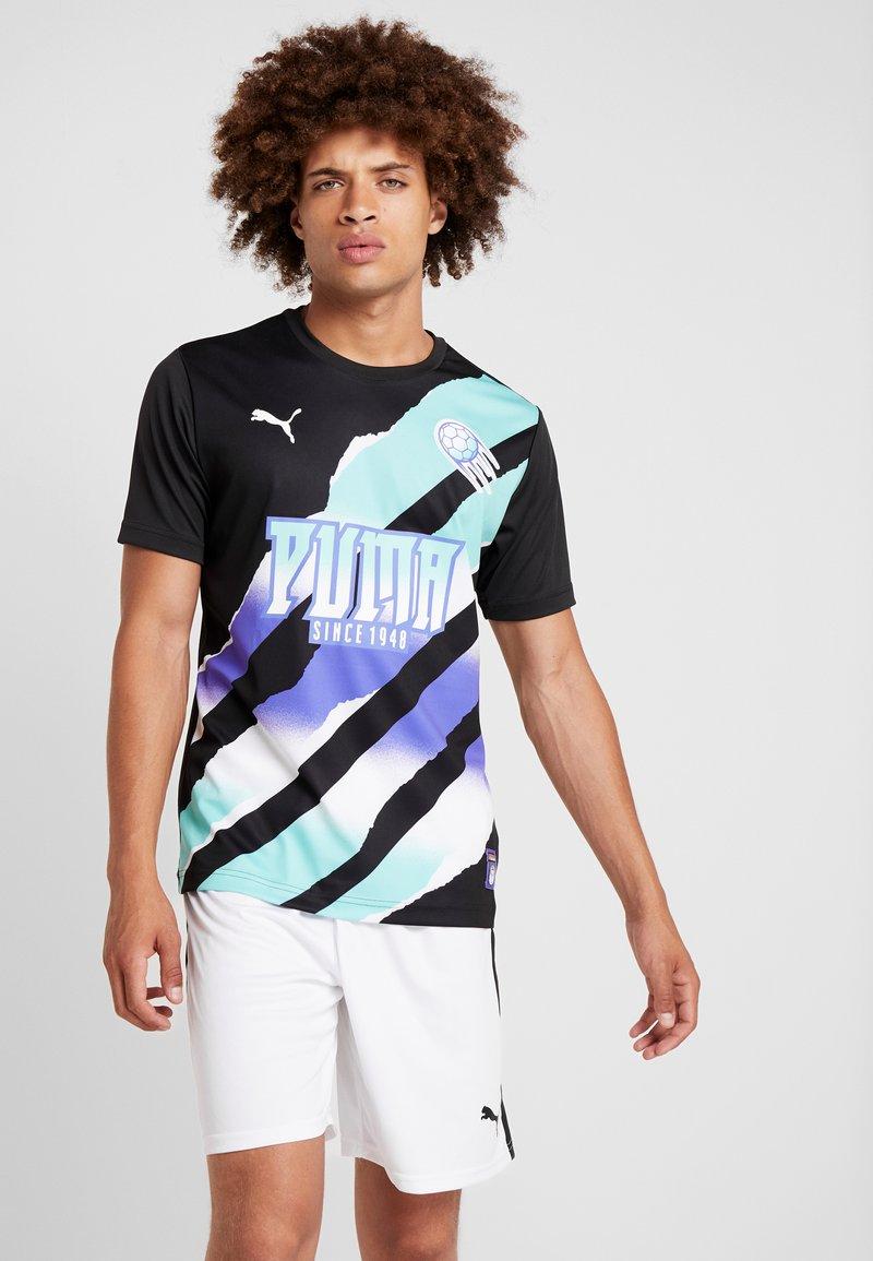 Puma - RETRO  - Print T-shirt - black