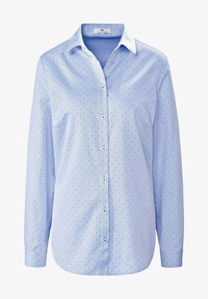 Button-down blouse - bleu/weiß/blau