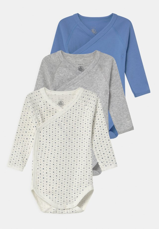 NAISS 3 PACK - Body - white/blue/grey