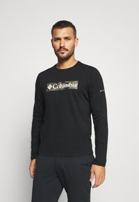 Columbia - LOOKOUT POINT GRAPHIC TEE - T-shirt à manches longues - black - 0