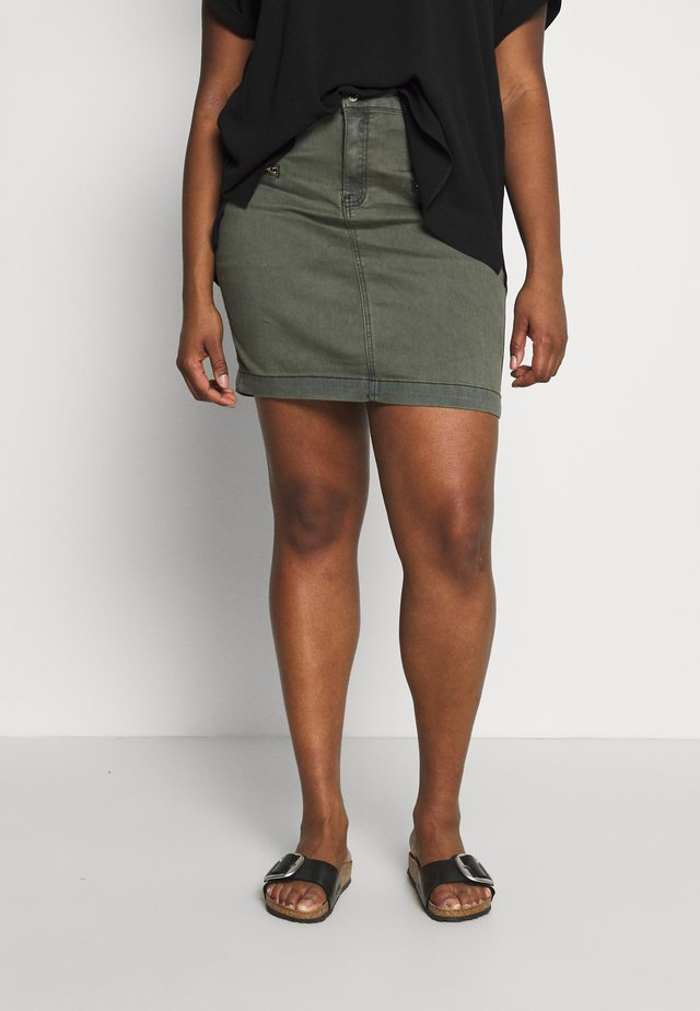 SUPERSTRETCH SKIRT - Spódnica jeansowa - khaki