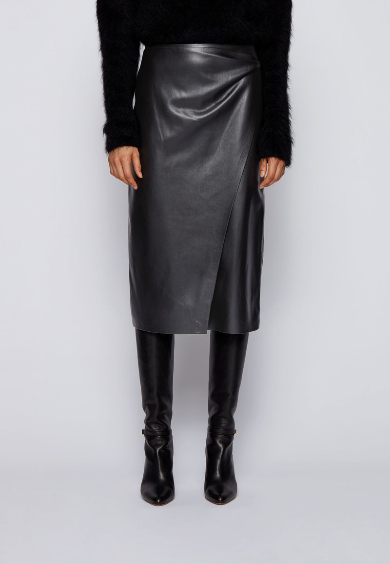 BOSS - VALEDY - Wrap skirt - black