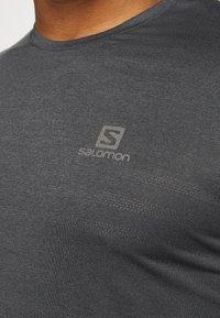 Salomon - TEE - Jednoduché triko - black/heather - 5