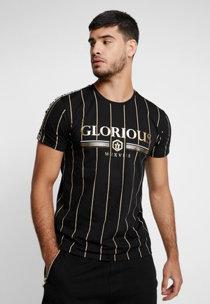 DERBAN - T-shirt con stampa - black
