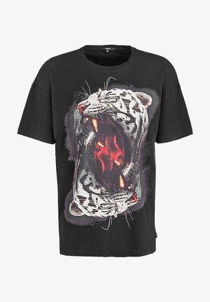 Print T-shirt - black vintage