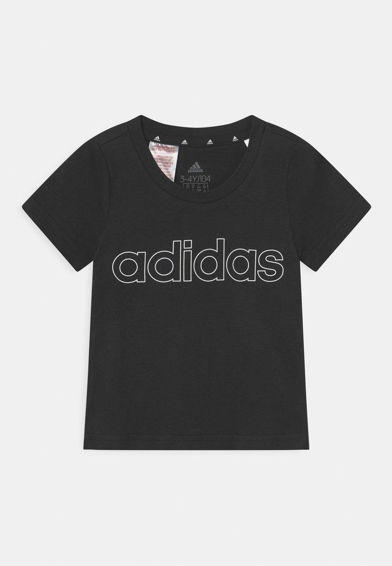 adidas Performance - UNISEX - Print T-shirt - black/white