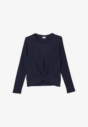 MIT WORDING - Long sleeved top - blue