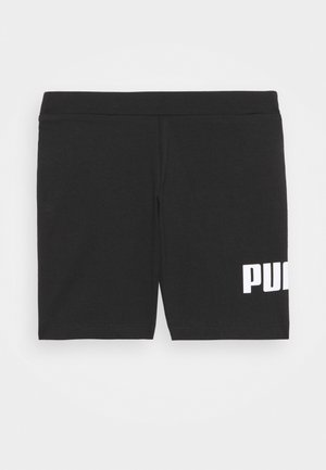 LOGO SHORT - Leggings - black