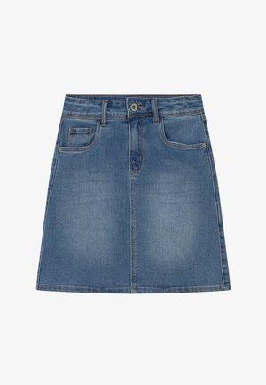 NLFCECE - Áčková sukně - light blue denim
