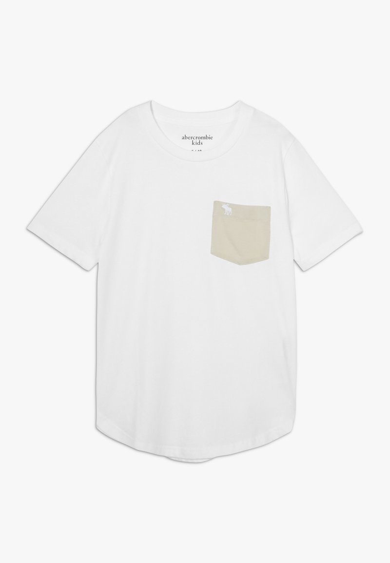 Abercrombie & Fitch - CURVED - T-shirt basic - white