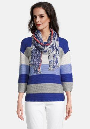 Sjaal - blau/weiß