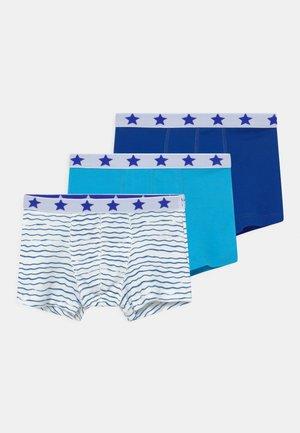 WAVE PRINT 3 PACK - Panties - dark blue/white