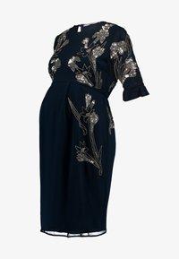 Hope & Ivy Maternity - EMBELISHED MINI DRESS WITH FLUTED SLEEVE - Koktejlové šaty/ šaty na párty - dark blue - 4
