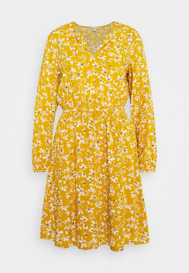 Day dress - brass yellow