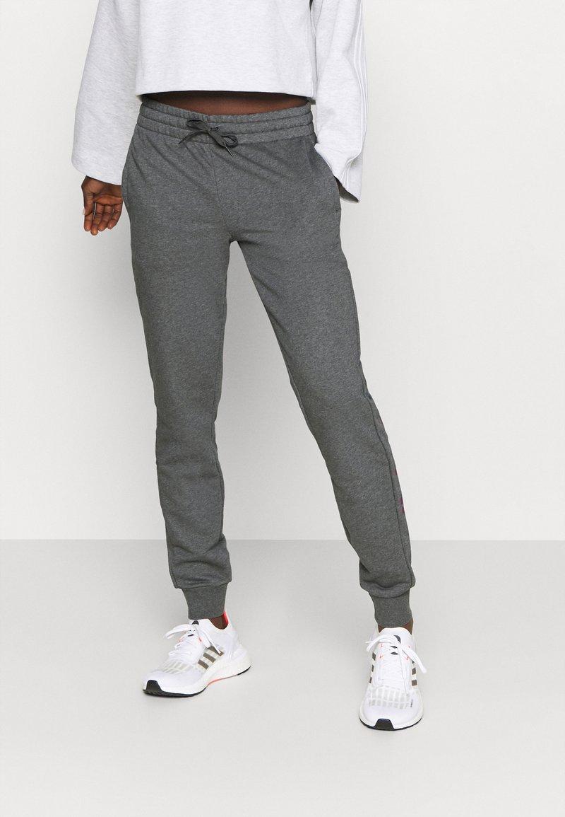 adidas Performance - PANT - Tracksuit bottoms - mottled dark grey