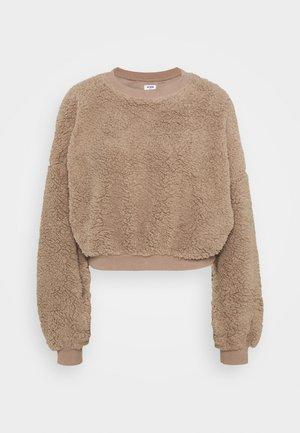 BALLOON SLEEVE CREW - Fleece jumper - off-white