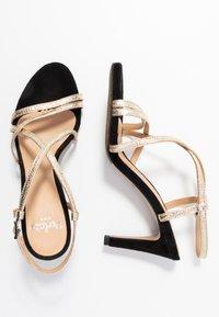 PERLATO - High heeled sandals - or/noir - 3