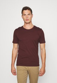 Selected Homme - SHDTHEPERFECT ONECK TEE - T-shirt con stampa - black - 0