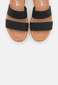 New Look - PORTSEA - Platform sandals - black - 5