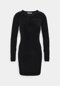 FRIDAY LONG SLEEVE DRESS - Shift dress - black/silver