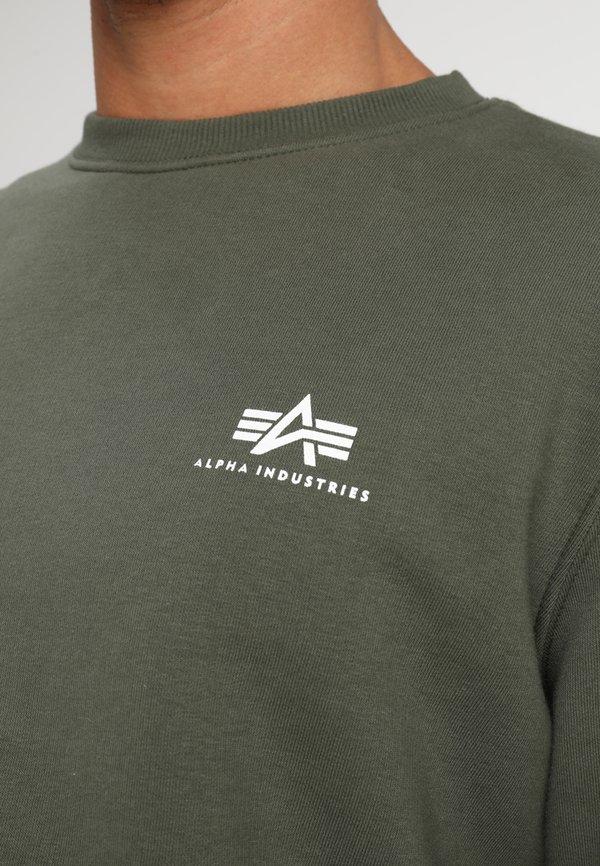 Alpha Industries BASIC SMALL LOGO - Bluza - dark oliv/oliwkowy Odzież Męska EQKM