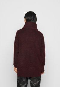 New Look Petite - FASH SLOUCHY ROLL NECK - Svetr - dark burgundy - 2