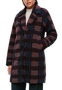 Q/S designed by - Short coat - dark ruby check - 3